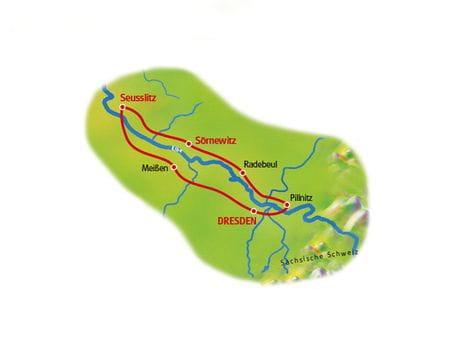 Karte Weinreise Elbe