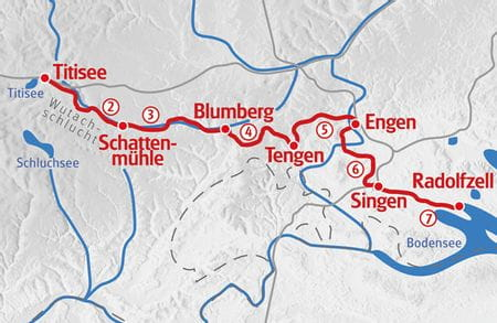 Hiking Black Forest - Lake Constance map