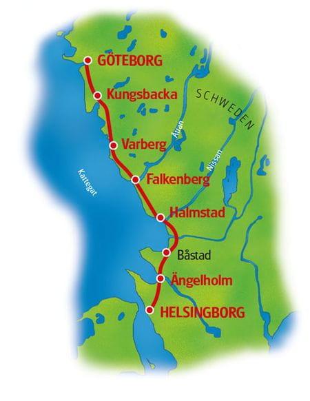 Map Kattegat Route