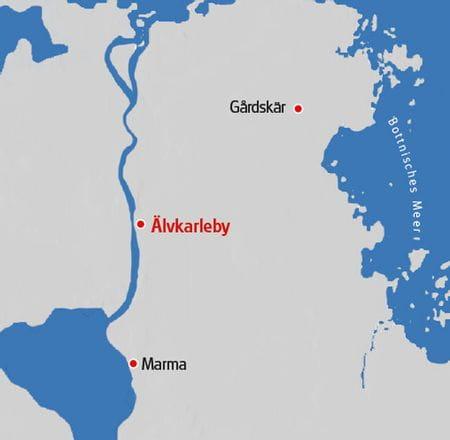 Karte Schweden