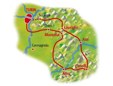 Karte Piemont für Genießer