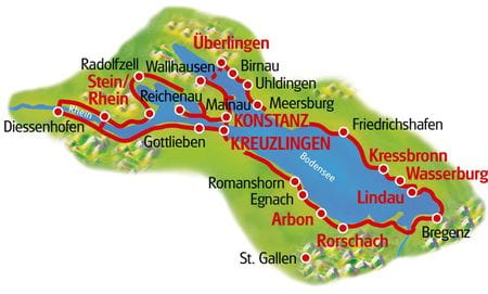 Map Lake Constance Loop Tour