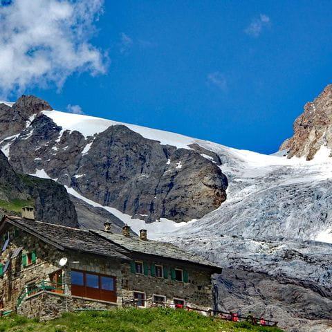 Französische Berghütte