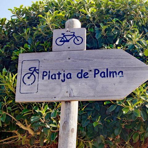 Radwegschild Platja de Palma