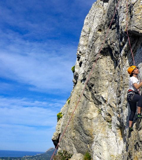 Klettern am Naturfels in Mallorca