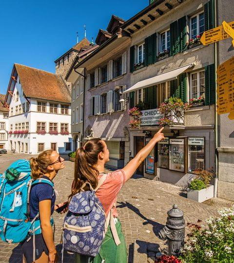 Wanderwegweiser am Jura-Höhenweg