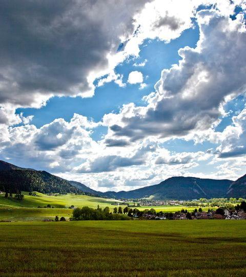 Wunderschöne Landschaft in Jura