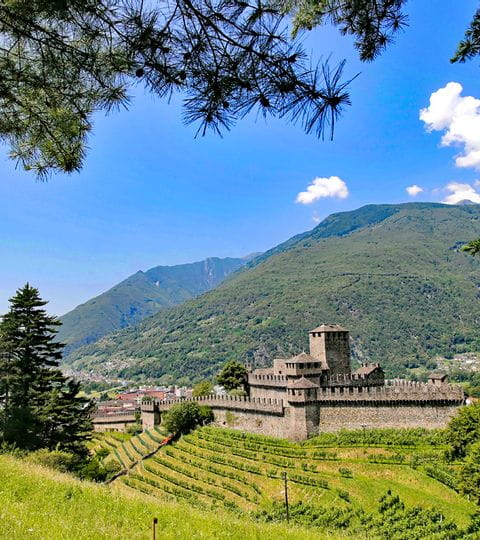 Burg Montebello in Bellinzona
