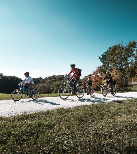 Radfahrer im Naturpark Schaffhausen