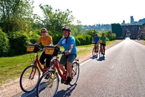 Radgruppe am Etschradweg
