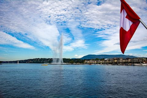 Fountain at Lake Geneva