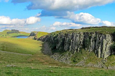 Beeindruckene Landschaft beim Wandern am Hadrians Wall