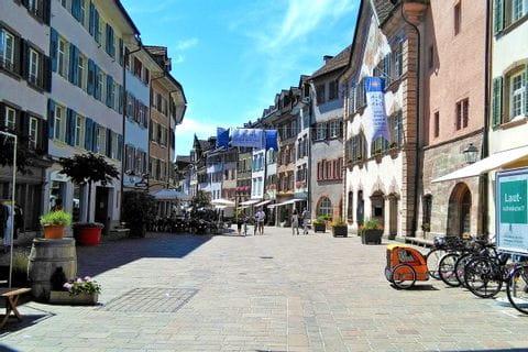 Die hübsche Fußgängerzone in Rheinfelden
