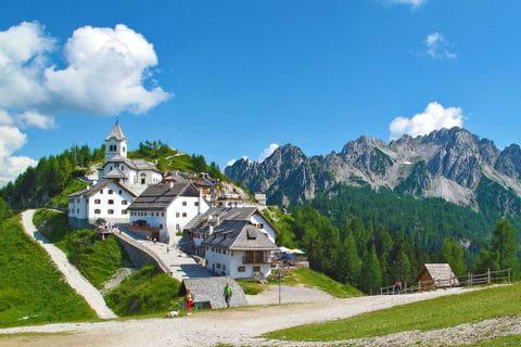 Wallfahrtsort Monte Lussari in Italien