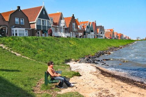 Houses on the shore of the Ijsselmeer