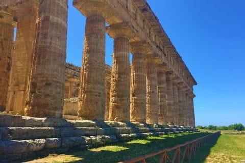 Der griechische Tempel Paestum ist UNESCO-Weltkulturerbe