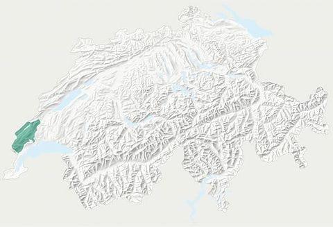 Karte Parc Jura Vaudois