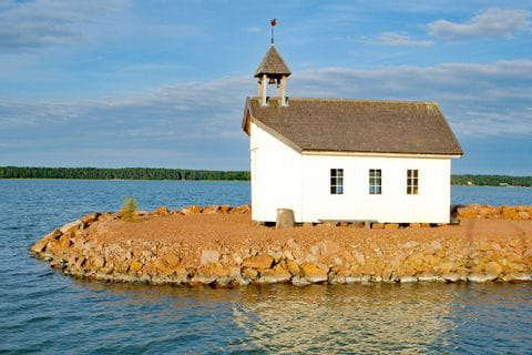 Church on a fjord