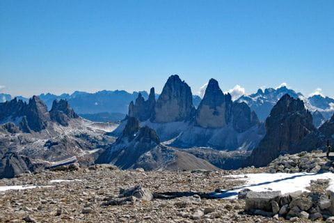 Bergpanorama in den Dolomiten