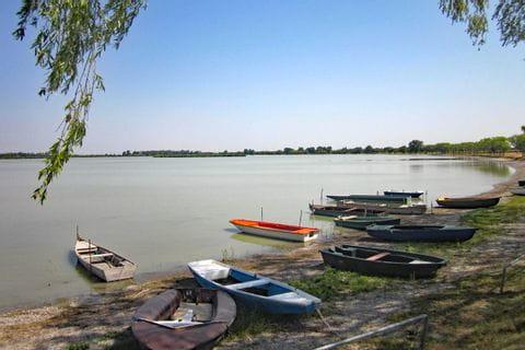 Boote am Ufer des Neusiedlersees
