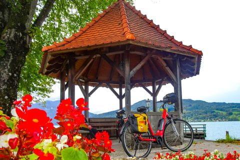 Fahrrad am Attersee