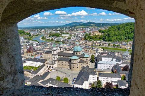 Blick auf den Dom und die Altstadt von Salzburg