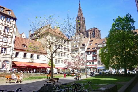View to Strasbourg Minster