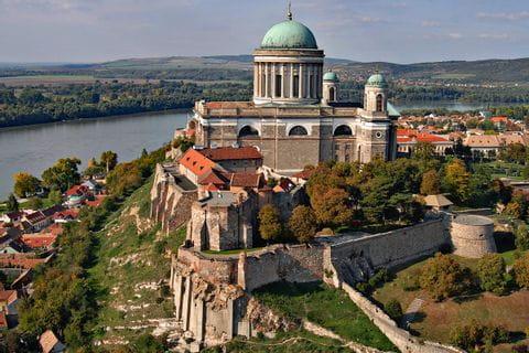 Blick auf die Basilika von Esztergom