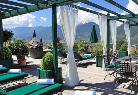 Terrace from Hotel Pienzenau im Schlosspark