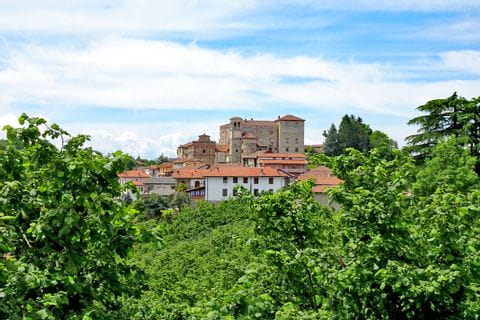 Hiking between chestnur- and hazelnut trees to Cravanzana