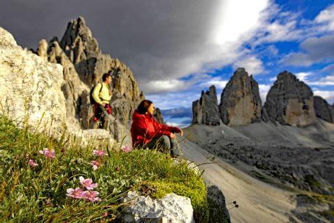 Wanderrast in den Dolomiten