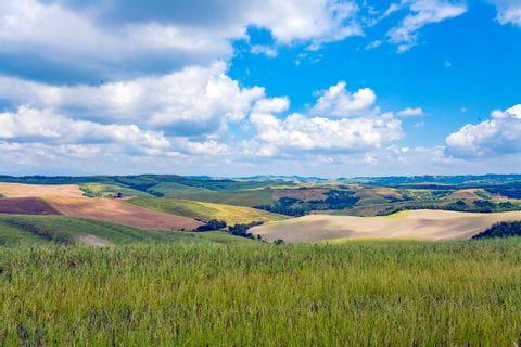 Panorama der Toskana