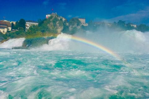 Regenbogen vor dem Rheinfall