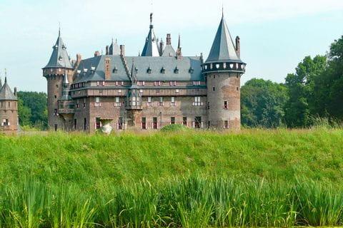 Schloss in mitten grüner Felder