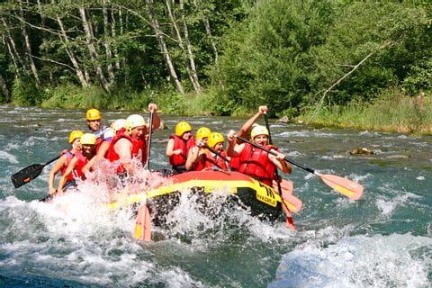 Action beim Rafting in Kärnten