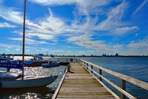Steeg im Hafen von Stralsund