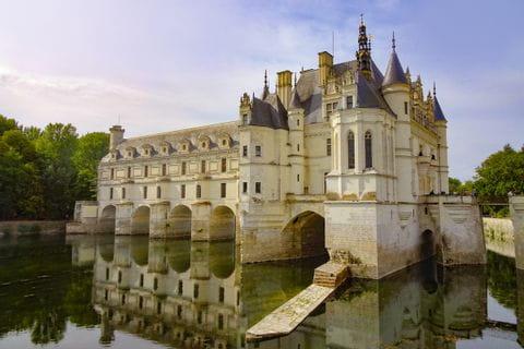 Schloss Chenonceaux mit Wassergraben