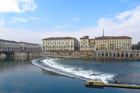 Blick auf den Po in Turin