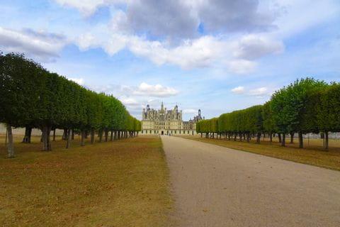 Schloss Chambord am Loire-Radweg