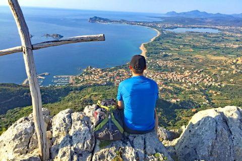 Malerischer Küstenblick in Sardinien