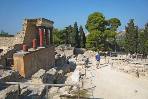 Besichtigung des antiken Knossos