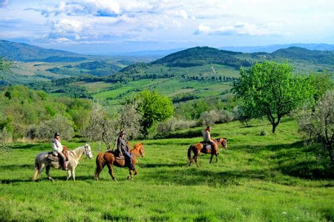 Reitausflug in der Toskana