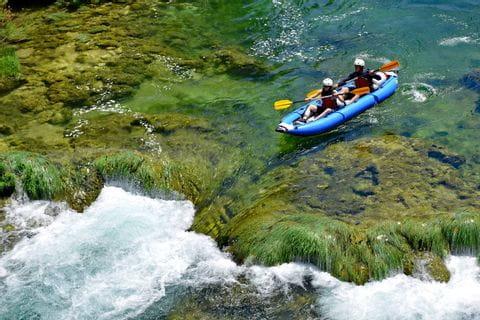 Wildwasseraction im Aktivurlaub in Dalmatien
