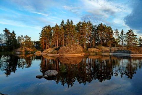 Ausblick auf die wunderschöne Natur an der Finnischen Seenplatte