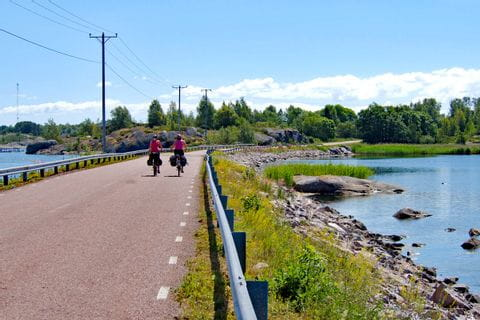 Cycle path in Finland