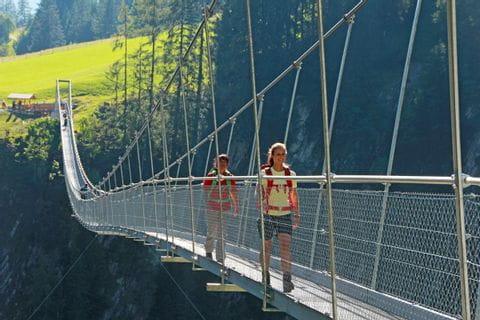 Fußgängerhängebrücke in Holzgau