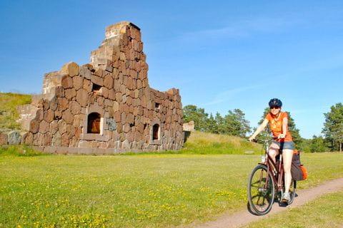 Radfahrer in Finnland