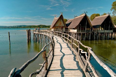 Stilt houses in Uhldingen at Lake Constance
