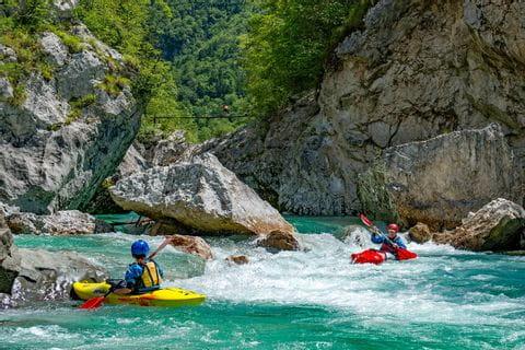 Paddelaction in Slowenien