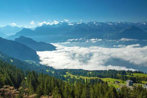 Wanderpanorama von Rigi Rotstock